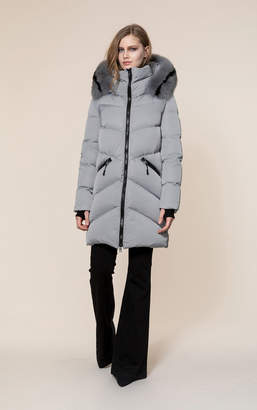 Soia & Kyo WENDELLE-FX sporty down coat with removable fur