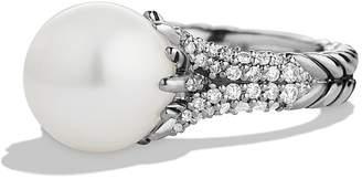 David Yurman 'Starburst' Pearl Ring with Diamonds