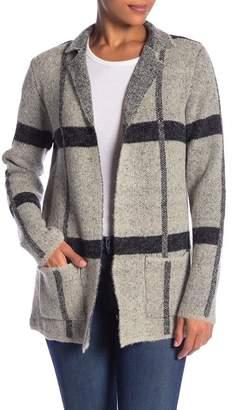 Joseph A Notch Lapel Striped Cardigan Coat