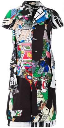 Comme des Garcons shortsleeved printed coat