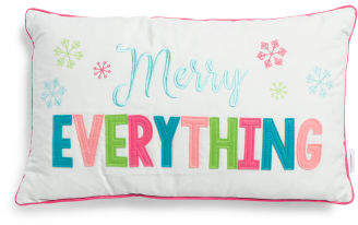 14x24 Merry Everything Fun Pillow