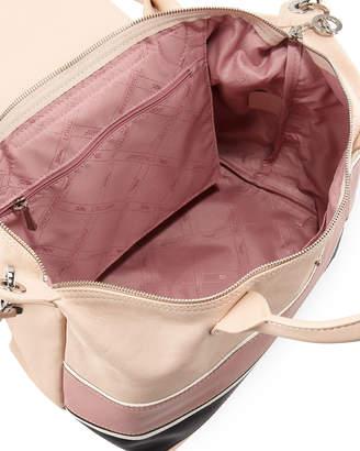 Longchamp Le Pliage Cuir Chevron Small Handbag with Strap