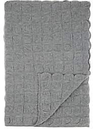 Barneys New York Galia Box-Pattern-Knit Cashmere Throw-Gray