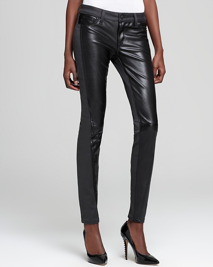 Quotation: SOLD design lab Pants - Ponte and Faux Leather