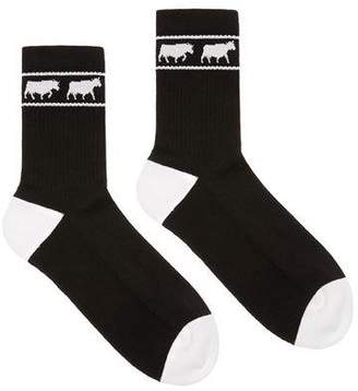 Bally Men's Animals Tube Socks, Black