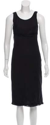 Prada Ruffle-Accented Midi Dress