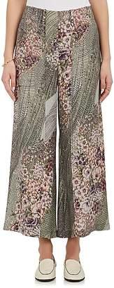Mayle Maison Women's Dimanche Silk Crop Wide-Leg Pants