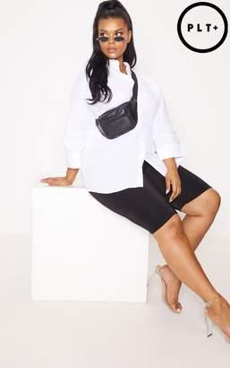 PrettyLittleThing Plus White Oversized Shirt
