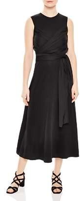 Sandro Trudy Ruched Midi Dress