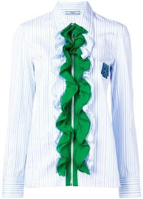 Prada ruffled zipped shirt