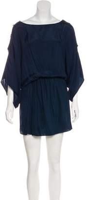 Karina Grimaldi Mini Silk Dress