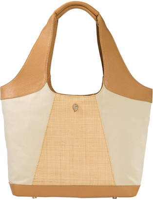 Helen Kaminski Ulai Raffia & Leather Shoulder Bag