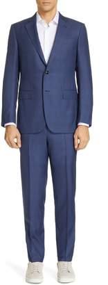 Ermenegildo Zegna Trofeo Classic Fit Plaid Wool & Silk Suit