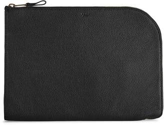 Reiss Bayfield Grained Leather Pouch
