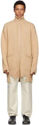 Diesel Beige Long K-Zak Zip-Up Sweater
