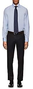 Eton MEN'S PLAID COTTON DRESS SHIRT-LT. BLUE SIZE 18 L