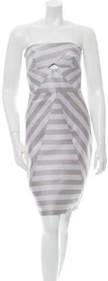 Cushnie et Ochs Striped Cutout Dress