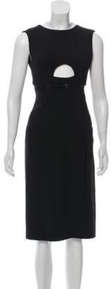 Calvin Klein Silk & Wool Dress Black Silk & Wool Dress