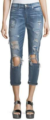 True Religion Mid-Rise Destroyed Straight-Leg Jeans