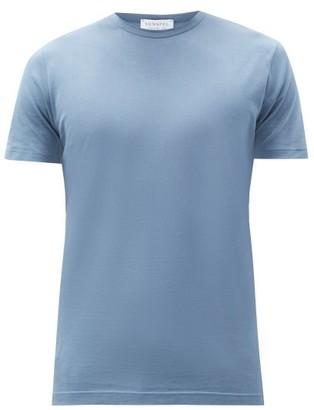 Sunspel Classic Crew Neck Cotton T Shirt - Mens - Blue