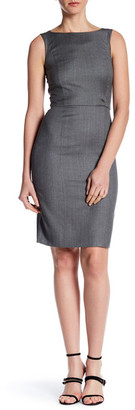 BOSS HUGO BOSS Crew Neck Sleeveless Print Dress $575 thestylecure.com