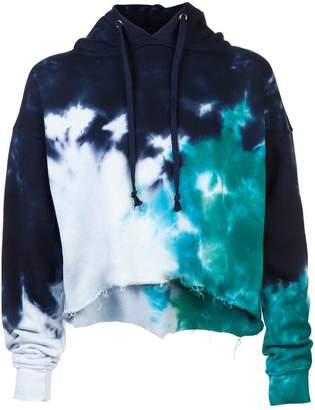 RE/DONE cropped tie dye hoodie