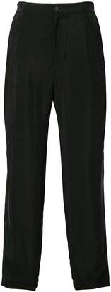 Emporio Armani loose fit flared trousers