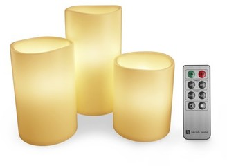 Flameless LED Candles, Remote Controlled 3-Piece Candle Set by Lavish Home For Votive Holders Home, Wedding, Bridal Shower, Christmas Decor