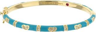 Ralph Lauren G. Adams G Adams Goldtone Enamel Bangle with Heart Design