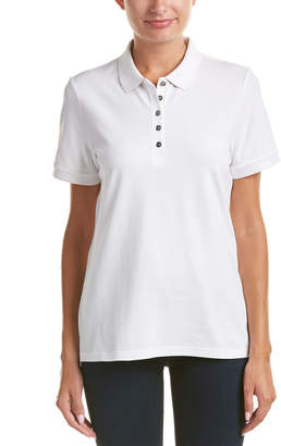Burberry Check Trim Stretch Cotton Pique Polo Shirt