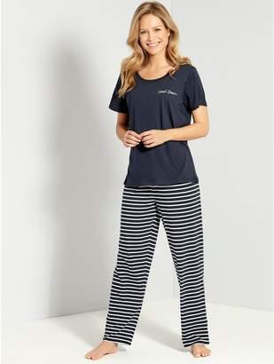 M Co Sweet dreams striped pyjama set 92012c3ab