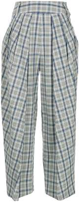 Eudon Choi checked cropped trousers