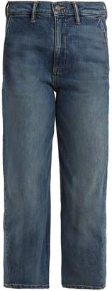 Vince Straight-leg stretch-denim cropped jeans
