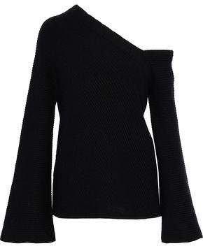 A.L.C. Asymmetric Ribbed Wool And Cashmere-Blend Sweater