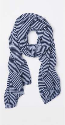 J.Mclaughlin Aubree Cashmere Scarf in Hairline Stripes