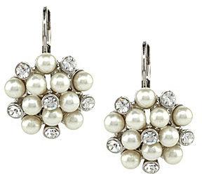 Cezanne Cluster Pearl Drop Earrings