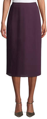 Eileen Fisher Pleated Recycled Polyester Midi Skirt, Petite