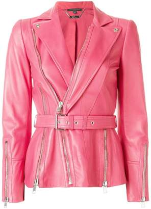 Alexander McQueen belted biker jacket
