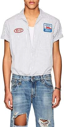 R 13 Men's Striped Cotton Mechanic's Shirt