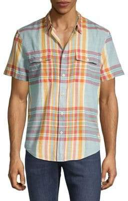 Lucky Brand Plaid Utility Shirt