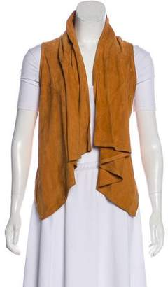 Torn By Ronny Kobo Draped Front Leather Vest