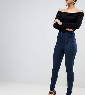 Asos Tall Design Tall Rivington High Waisted Jeggings In Vivienne Dark Wash
