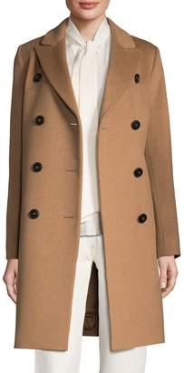 Cinzia Rocca Women's Solid Peak Lapel Long Coat