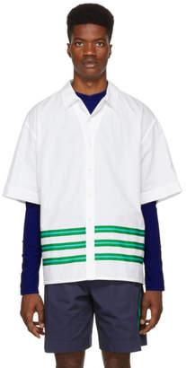 Kenzo White Striped Hawaiian Shirt