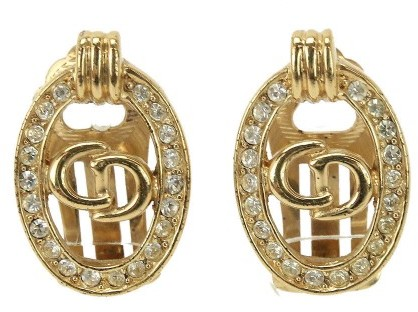 Christian Dior  Christian Dior Gold Tone Metal Earrings