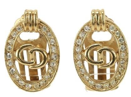 Christian Dior Christian Dior Gold Tone Metal Earrings