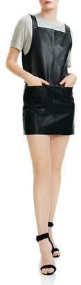 Maje Richance Faux-Leather Mini Dress