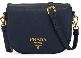Prada Daino Leather Saddle Bag