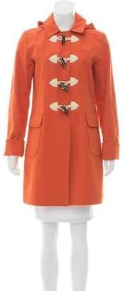 Jane Post Hooded Knee-Length Coat