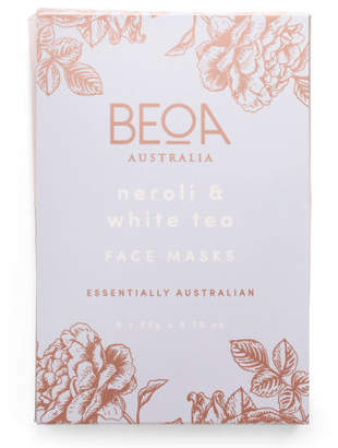 Australian Designed 5pk Neroli & White Tea Masks